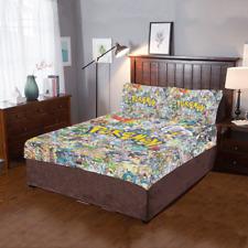 Hot Selling Custom Pokemon Duvet Cover Sets Pillowcase 3-Pieces Bedding Set