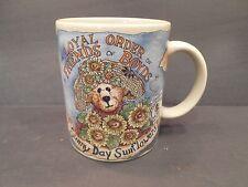 Boyds Bear Collection Bearware Pottery 1998 Sunny Day Sunflowers Coffee Mug Cup
