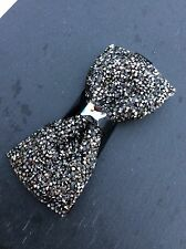 FREE GIFT BAG Men's Wear Bow Tie Sparkly Glittery Black Wedding Fashion Party