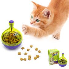 Interactive IQ Improve Treat Ball Cat Play Toy Pet Dog Cat Food Dispenser Green