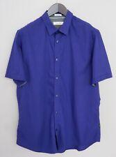 Men Calvin Klein Casual Shirt Cotton Short Sleeves L JKA365