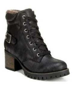 Carlos by Carlos Santana Womens Gibson Booties Black Size 7.5m Lace Up MSRP $89