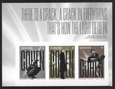 2019  Canada     LEONARD COHEN    Three New  2019 Booklet Stamps Issue