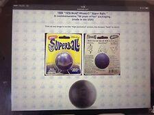 WHAM-O SUPER BALL 1976 [2 each balls & holster][no retail packing] dk-blue/black
