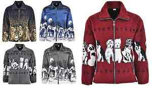 Unisex Men Women Animal Print Warm Thick Fleece Winter Shirt Jacket/Coat S-2XL
