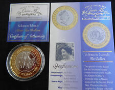 2000 SILVER PROOF GOLD PLATING SOLOMON ISLANDS $10 COIN + COA'S WARTIME 100th