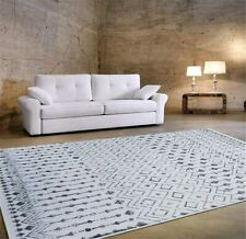 Stylish Trellis Rugs Living Room Bedroom Carpets Gray Silver Area Rugs 5X7 8X10