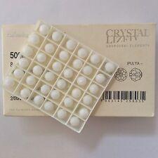 Genuine Swarovski® Crystal 8mm Rounds #5000 - White Alabaster - 36 PC. TRAY