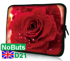 "D21 Red Rose Flower 10"", 10.1"", 10.2"" tablet ipad Notebook Sleeve Soft Case UK"