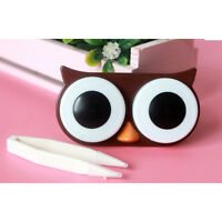 OWL Contact Lens Case Cute Travel Storage Soak Kit Hard Holder Container Box LWY
