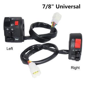 "7/8"" Motorcycle Horn Button Turn Signal Fog Lamp Start Handlebar Control Switch"