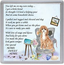 """Cavapoo Dog Coaster """"HOME SWEET HOME Poem .."""" Novelty Gift by Starprint"""