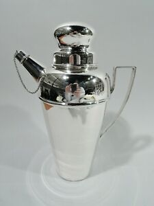 Antique Shaker - Cocktail Martini Art Deco Modern - American Sterling Silver