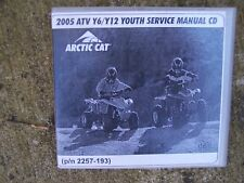 2005 Arctic Cat ATV Y6/Y12 Youth Service Manual CD P/N 2257-193 Compact Disc  T