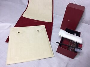 Cartier Travel Service Case Velvet And Watch Jewellery Cleaning Kit