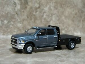 Ertl 1/64 Greenlight Black Silver Dodge Ram 3500 Laramie Pickup Truck Farm Toy