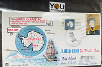 1972 US / UK STAMPS COMBO ANTARCTIC JAMES CLARKE ROSS Cover Envelope Cancel
