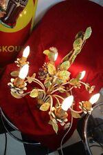 Deckenlampe Kronleuchter floral florentiner Blüten 60/70er Jahre Chabby Chic