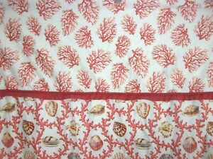 Waverly Williamsburg Cotton Shower Curtain with Shell and Coral Print