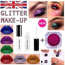 Glitter Eye Shadow Fix Gel Glue Silver loose Make up Body Painting Waterproof UK