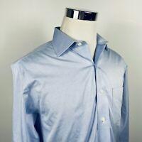 Brooks Brothers Mens 15 1/2 34 Regent Non Iron Dress Shirt Blue Textured Cotton
