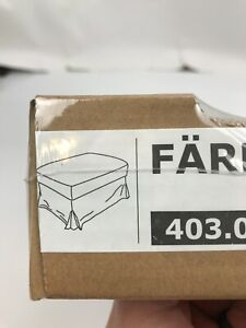 IKEA FARLOV OTTOMAN FOOTSTOOL SLIPCOVER COVER FLODAFORS BEIGE 403.066.78 NEW