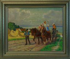 WALTERZUCHORS (1870-?) LANDSCHAFT BEI LEBA - DANZIG - POMMERN - AN DER OSTSEE