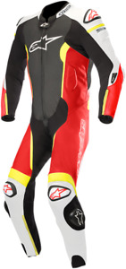 Alpinestars Missle Leather Suit Tech-Air Compatible 50 Black/White/Red/Yellow