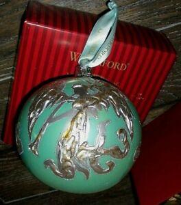 Waterford Heirlooms 2004 Aqua Ball Angel Trumpeter Christmas Ornament Poland VGC