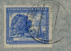 Chile 1949 Serie Gay Blue Postmark Los Andes used (A551)