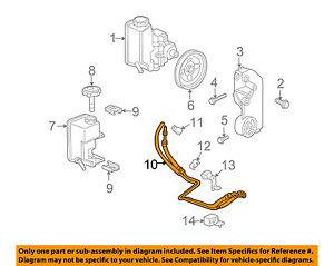 Hummer GM OEM 06-10 H3 Pump-Steering-Hose & Tube Assembly 20934199