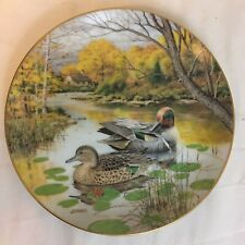 """The Green Winged Teal by Bart Jerner Collector Plate #280H 8.5"""" 1987 Free Ship"""