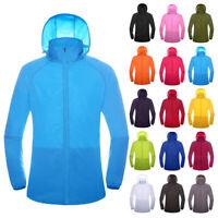 Women Men Windproof Jacket Outdoor Bicycle Sports Quick Dry Windbreaker Coat Top