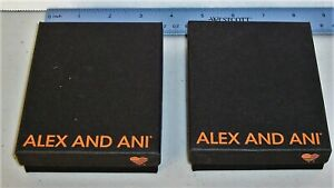 ALEX and ANI Empty Black Gift Boxes w/ Lid No Bracelet or Earrings Lot of 2