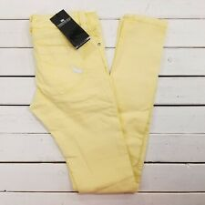 Parasuco Denim Legend Sofia Jeans Womens 27x34 Yellow Wash Mid Rise Skinny J255