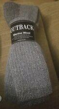 Outback merino 20% wool cabelas 2 pair socks gray size 10-13