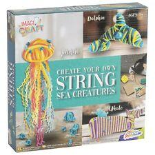 Grafix Sea Creatures String Craft Kit - Makes 3 Colourful Sea Creatures