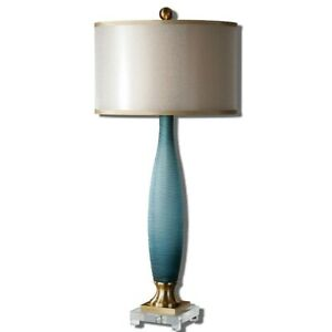 Uttermost Alaia Blue Glass Table Lamp - 26582-1