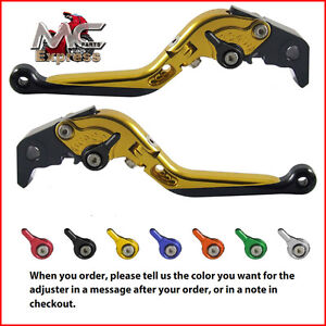Folding Extendable Adjustable Levers BMW F800S 2006 - 2014 Gold