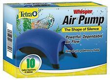 Whisper Silent Air Pump for 10 Gallon Water Aquarium Fish Tank Flow Filter