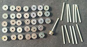 SLOT CAR 12 AXLES & 34 WHEEL RIMS for AURORA AFX &/or OTHER FRONT/REAR