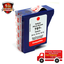 SaveOnmany® Red Fluorescent Ink Cartridge for Pitney Bowes 797-0 797-M 797-Q