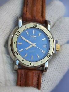 SECTOR GOLDEN EAGLE AUTOMATIC DATE TWO TONE MENS 39mm SWISS MADE