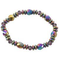 1X(Unisex Modus Multicolor Magnetic Armband Perlen Haematit Stein fuer J7P8)