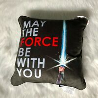 Star Wars Decorative Throw Pillow May The Force Be With You Light Saber