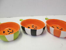 Halloween Pumpkin Ceramic Candy Dishes by Mud Pie, Set of 3, NEW