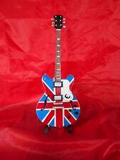 Noel Gallagher Union Jack Miniature Tribute Guitar (UK SELLER)