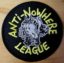 ANTI-NOWHERE LEAGUE embroidered Patch - Iron On - Punk Rock - FREE SHIPPING!