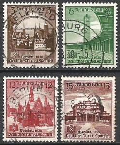 Germany (Third Reich) 1938 Used - German Sports and Gymnastics Festival, Breslau