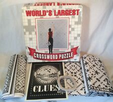 """""""World's Largest Crossword Puzzle"""" By Herbko *24718 Clues On 6 Large Sheets*"""